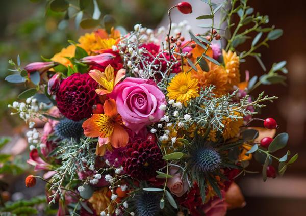 kompozycja z kwiatów 2